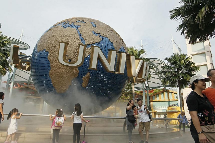 Universal Studios Singapore has been ranked the top amusement park in Asia by online travel site TripAdvisor, beating the likes of Hong Kong's Ocean Park, Tokyo Disneyland and Universal Studios Japan. -- ST PHOTO:MARK CHEONG