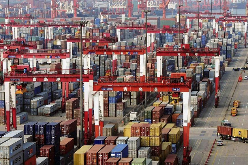 China's export growth should show marked improvement in the second half of the year compared to the first six months, the trade ministry said on Tuesday. -- PHOTO: REUTERS