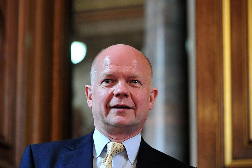 British Foreign Secretary William Hague said he was stepping down from his post as the country's top diplomat after four years in the job in an unexpected move prompted by a government reshuffle. -- PHOTO: AFP