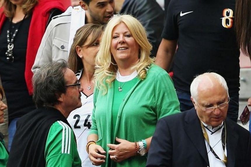 Joachim Loew's wife Daniela Loew cheers for her husband and the German team at the 2014 World Cup.-- PHOTO: TUMBLR