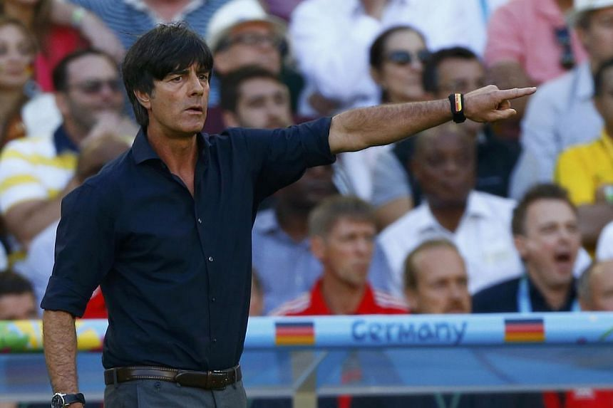 Germany's coach Joachim Loew gestures during the 2014 World Cup final between Argentina and Germany at the Maracana stadium in Rio de Janeiro -- PHOTO: REUTERS
