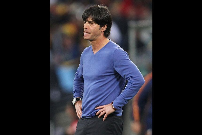 Germany's coach Joachim Loew in his trademark blue cashmere sweater in the 2010 World Cup -- PHOTO: TUMBLR