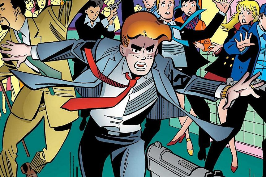 An image from an issue of Life With Archie is pictured courtesy of Archie Comics Publications.An Archie comic book depicting a same-sex marriage has been barred from sale in Singapore after a complaint from a member of the public, and the Natio