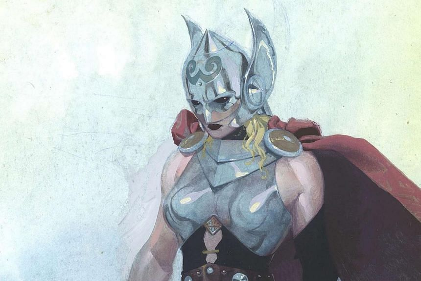 The female version of the Marvel comic book superhero character Thor is shown in this publicity image released to Reuters on July 15, 2014, courtesy of Marvel Comics.The God of Thunder will soon be a goddess, according toMarvel's latest a