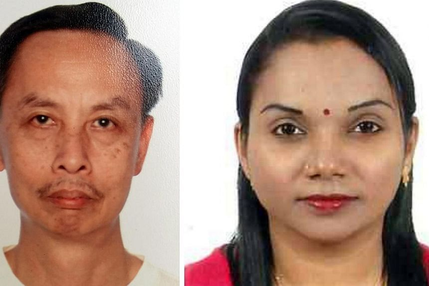 Security guards Sim Lai Huat and Sooria Kala Kanaseon were burned to death when they went to investigate the fire. -- PHOTOS: MR SIM WAI KIANG/ PICO GUARDS