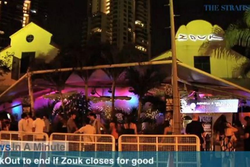 In today's The Straits Times News In A Minute video, we look at how this year's ZoukOut will be the last if the club is forced to close by end of the year, among other issues. -- PHOTO: SCREENGRAB FROM VIDEO