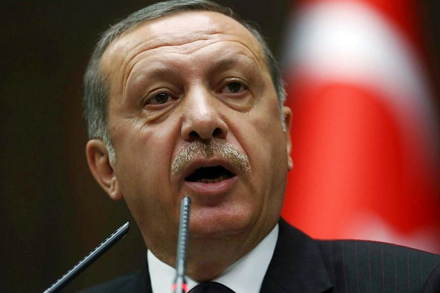 Turkish Prime Minister Recep Tayyip Erdogan on Friday slammed Egypt's President Abdel Fattah al-Sisi as an illegitimate tyrant, saying Cairo could not be relied upon to negotiate a truce with Israel. -- PHOTO: AFP