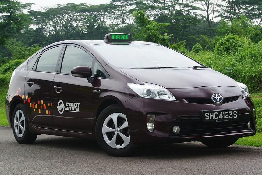 The Toyota Prius taxi is exactly the same as Priuses sold as private cars. -- ST PHOTO: TOH YONG CHUAN