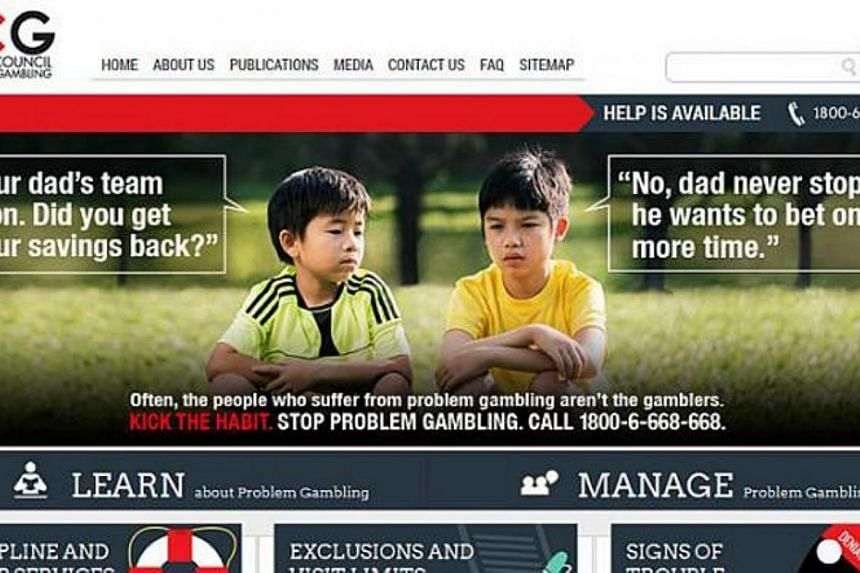 """A modified version of the online ad was shown on the NCPG website after Germany's final win, in which Andy's friend asks him if he got his savings back. The boy replies: """"No, dad never stops... He wants to bet one more time."""" -- PHOTO: NCPG WEBSITE"""