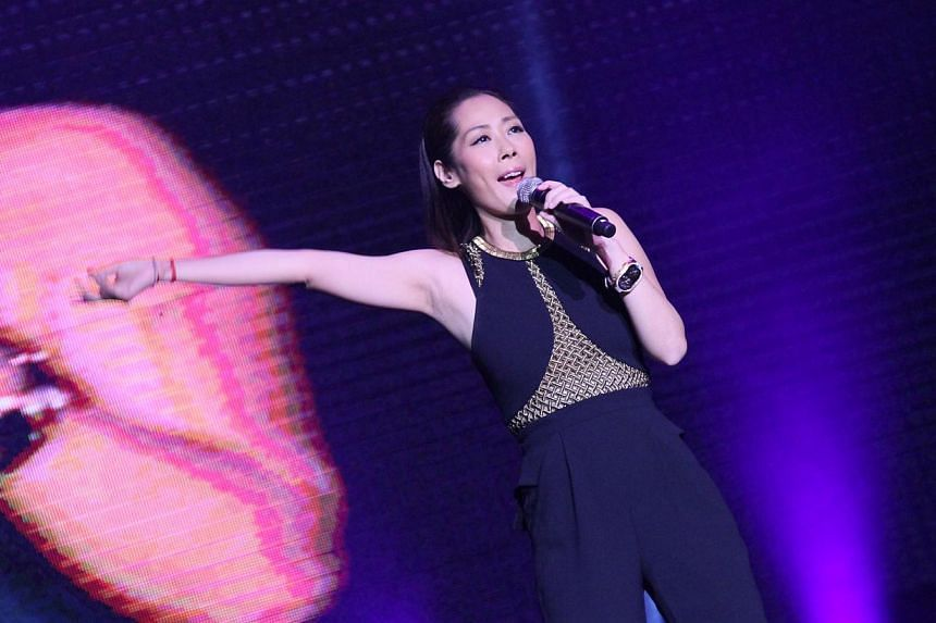 Shirley Kwan performs at Polygram Forever Live Concert in Singapore 2014. -- PHOTO : AMC LIVE