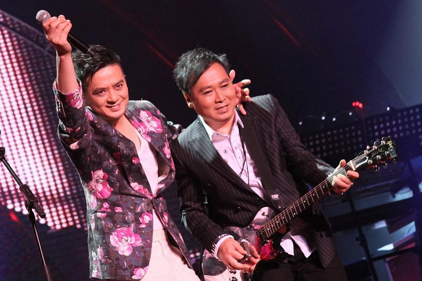 Tat Ming Pair perform at Polygram Forever Live Concert in Singapore 2014.-- PHOTO : AMC LIVE