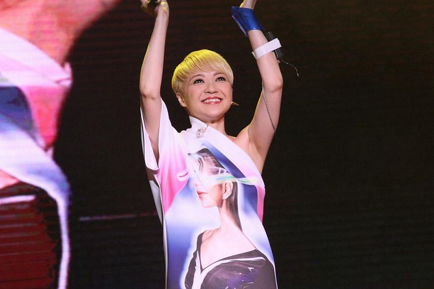 Priscilla Chan performs at Polygram Forever Live Concert in Singapore 2014.-- PHOTO : AMC LIVE