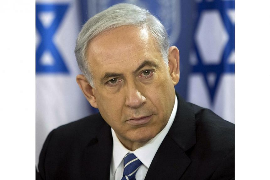 "Israeli Prime Minister Benjamin Netanyahu said Sunday there was ""very strong"" international support for the military's ongoing operation in Gaza that has killed more than 430 Palestinians in 13 days. -- PHOTO: AFP"