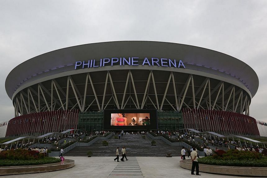 The general view of world's largest indoor stadium erected by a politically-influential religious sect Iglesia ni Cristo (Church of Christ) in Bocaue town, Bulacan province, north of Manila,on July 21, 2014. -- PHOTO: AFP