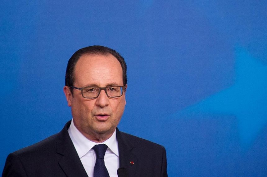 A decision on whether to deliver a second Mistral helicopter carrier to Russia will depend on Moscow's attitude over the Ukraine crisis, French President Francois Hollande said on Monday. -- PHOTO: AFP