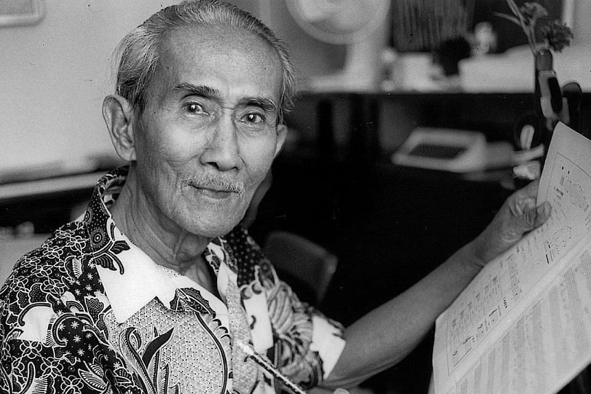 Zubir Said, composer and well-known writer of Malay music and songs, -- ST PHOTO: FILE