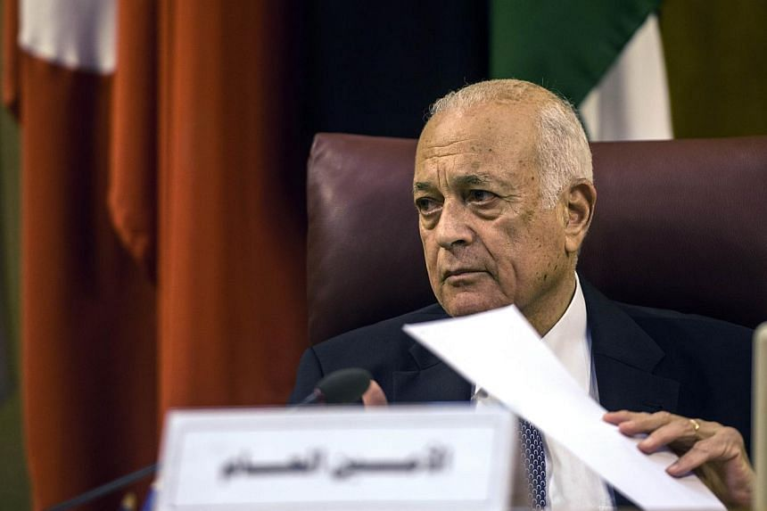 Arab League chief Nabil al-Arabi urged Hamas on Monday to accept an Egyptian proposal to end the fighting between the militants in Gaza and Israel that has killed almost 600 Palestinians. -- PHOTO: AFP