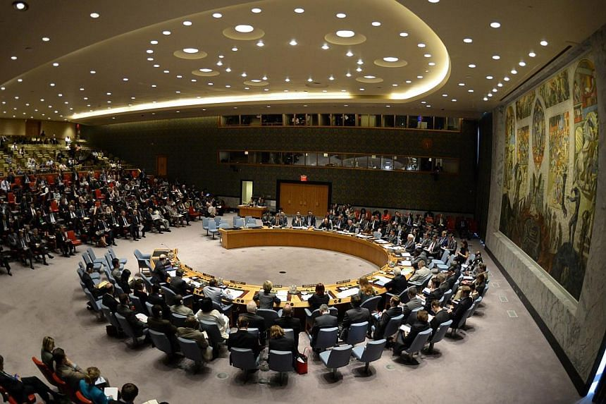A view of the Security Council during a meeting at the United Nations on July 21, 2014 in New York. -- PHOTO: AFP