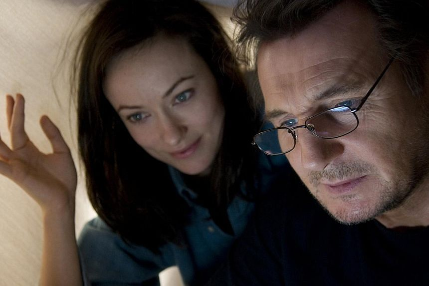 Liam Neeson and Olivia Wilde (both above) as lovers in Third Person. -- PHOTO: SHAW