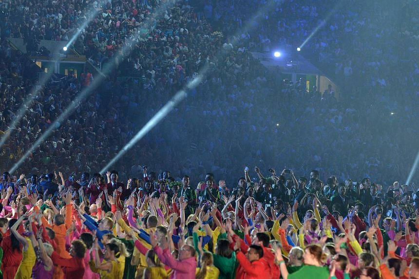 The opening ceremony of the 2014 Commonwealth Games at Celtic Park in Glasgow on July 23, 2014. -- ST PHOTO: KUA CHEE SIONG