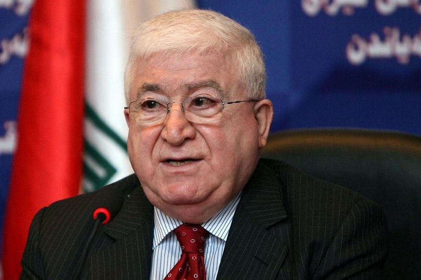 Iraqi parliament caretaker speaker Fuad Masum during a parliamentary session in Baghdad on July 27, 2010.Iraq's parliament on Thursday, July 24, 2014, elected veteran Kurdish politician Fuad Masum as federal president, a move that paves the way