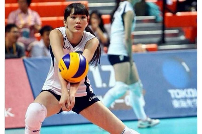 Sweet-faced Kazakhstan volleyball player Sabina Altynbekova, 17, has been the star of the 17th Asian Women's U19 Volleyball Championship in Taipei. -- PHOTO: SABINA ALTYNBEKOVA/INSTAGRAM