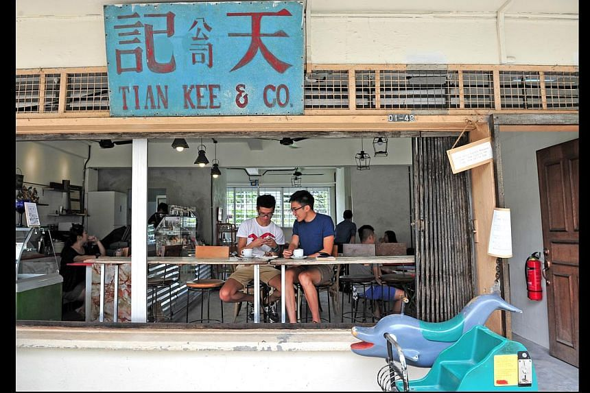 Tian Kee provision shop in Dakota Crescent has been turned into a cafe that retains the feel of the old place. -- PHOTO: ST FILE