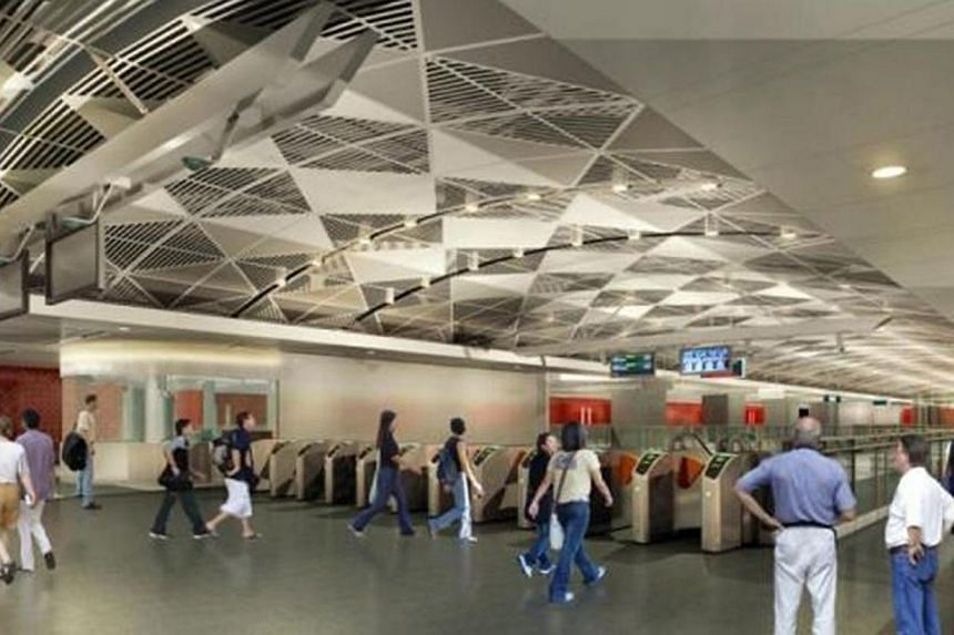 Artist's Impression of Orchard Station. -- PHOTO: THE LAND TRANSPORT AUTHORITY