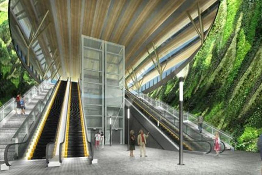 Artist's Impression of Gardens by the Bay Station. -- PHOTO: THE LAND TRANSPORT AUTHORITY