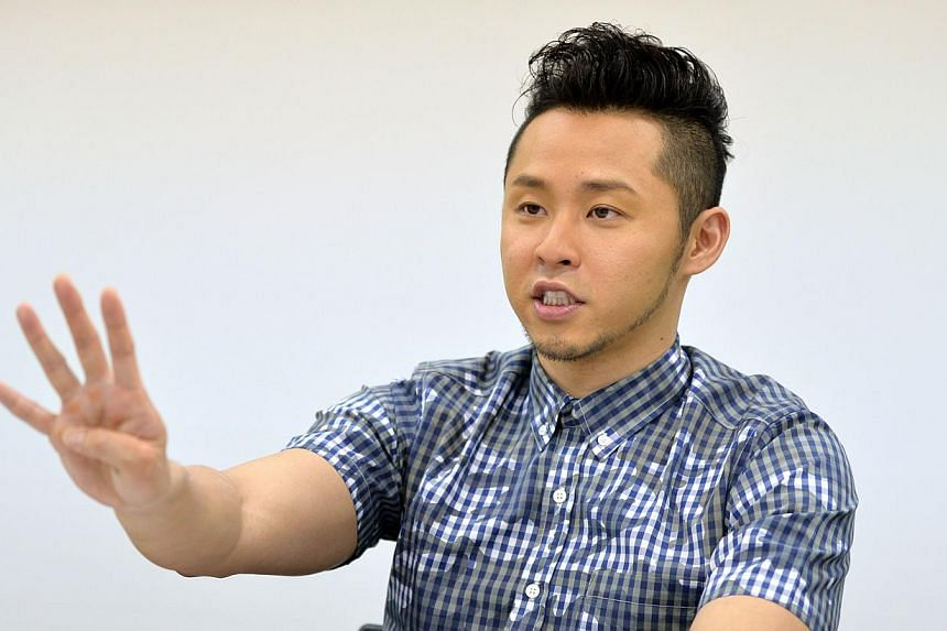 Japan's former Olympic swim king Kosuke Kitajima speaking during an interview in Tokyo on July 2, 2014. He has signed up for the Sept 5-7 Singapore Swim Stars, event organisers Sports Swim Organisation confirmed. -- PHOTO: AFP