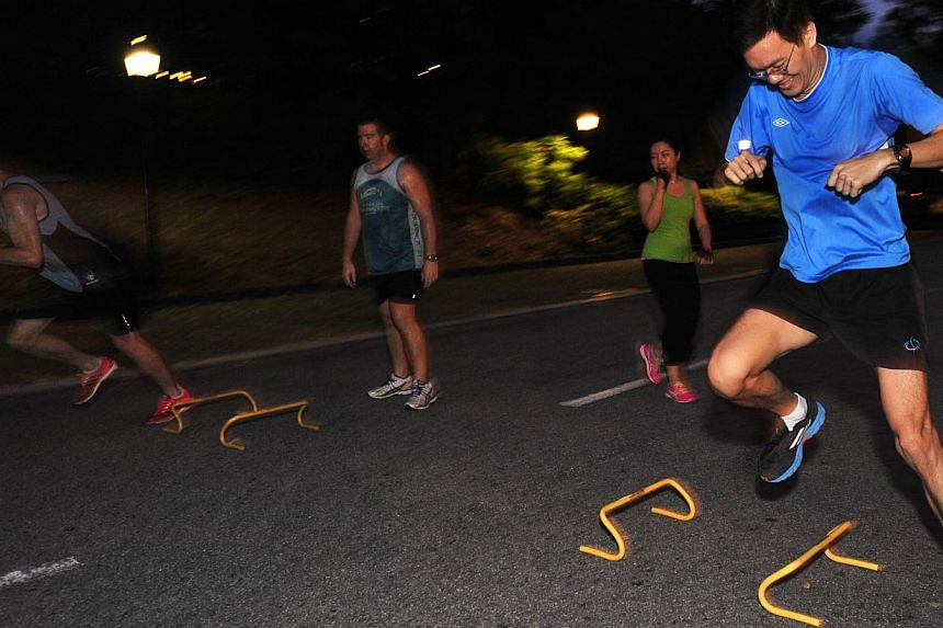 Boot camps: 7Cycle, Bloom'n Fit, Ufit (above) and Fuelfit. -- PHOTO: DIOS VINCOY JR FOR THE STRAITS TIMES