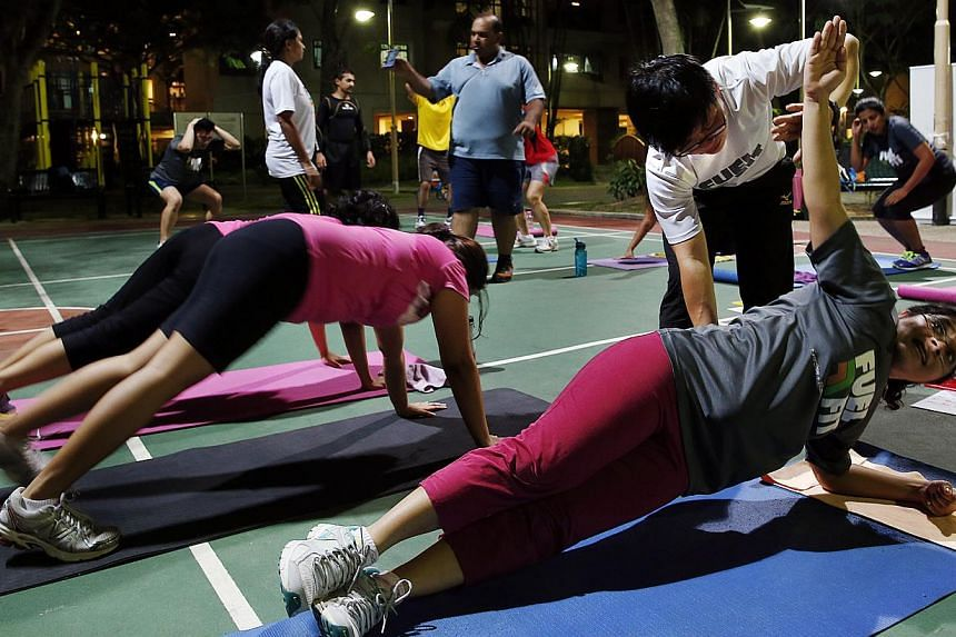 Boot camps: 7Cycle, Bloom'n Fit, Ufit and Fuelfit (above). -- PHOTO: LAU FOOK KONG