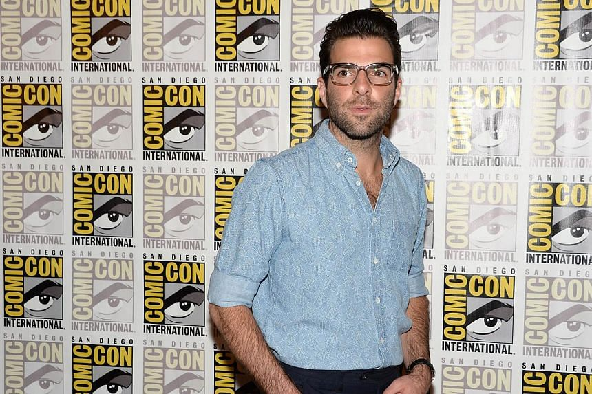 Actor Zachary Quinto attends the press line for 20th Century Fox's Hitman: Agent 47, on the second day of the 45th annual Comic-Con, in San Diego, California on July 25, 2014. -- PHOTO: AFP