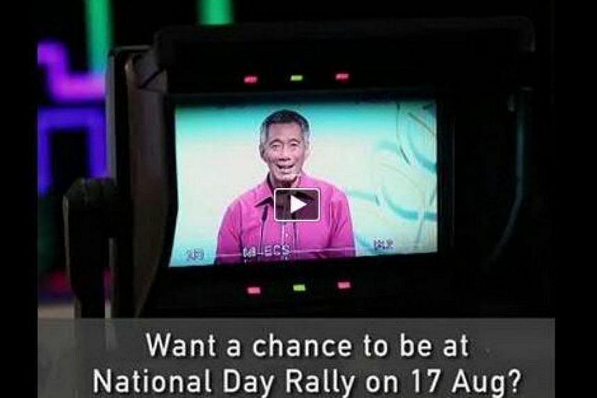 Prime Minister Lee Hsien Loong has reached out to his social media followers, and invited them to let him know if they are keen on attending this year's National Day Rally, which will take place on Sunday Aug 17. -- SCREENGRAB: LEE HSIEN LOONG/FACEBO