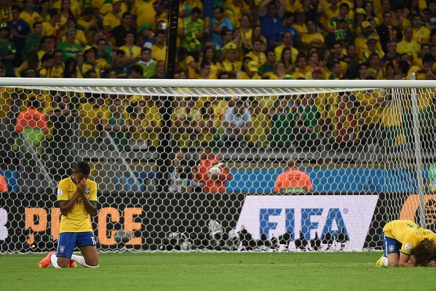 Two Brazilian players crushed by their team's World Cup semi-final defeat against Germany earlier this month in Brazil. What happened with the Brazilian team is a classic illustration of the Yerkes-Dobson law, where moderate levels of anxiety improve