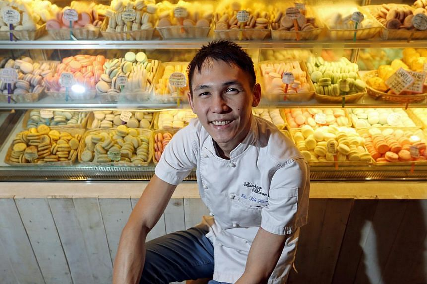 SEAH KWANG PENG Mr Lin Weixian, 29, founder of Bonheur Patisserie, graduated from a CET Centre established by the WDA.