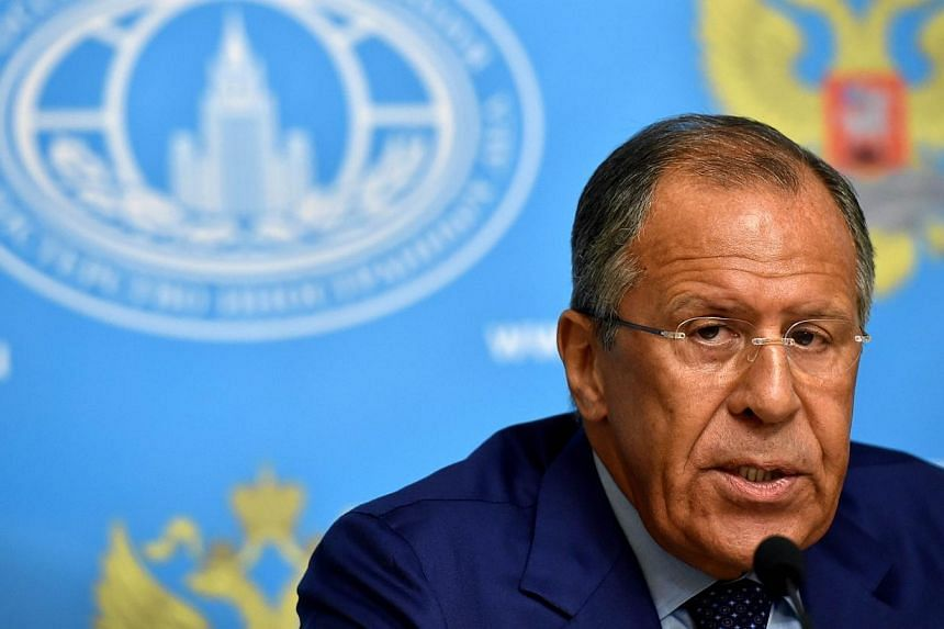 """Russian Foreign Minister Sergei Lavrov speaks during a press conference in Moscow on Monday, July 28, 2014.Russia will not impose tit-for-tat measures or act """"hysterically"""" over Western economic sanctions, Foreign Minister Sergei Lavrov said on"""