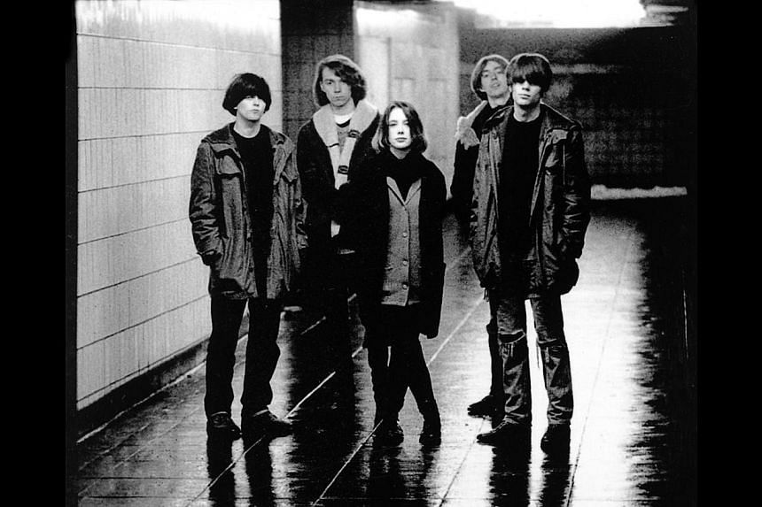 English indie/shoegaze pioneers Slowdive comprise (from left) Simon Scott, Nick Chaplin, Rachel Goswell, Christian Savill and Neil Halstead. -- PHOTO: SYMMETRY ENTERTAINMENT