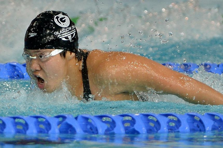 Tao Li in action at the Tollcross Swimming Centre in Glasgow, Scotland. -- ST PHOTO:KUA CHEE SIONG