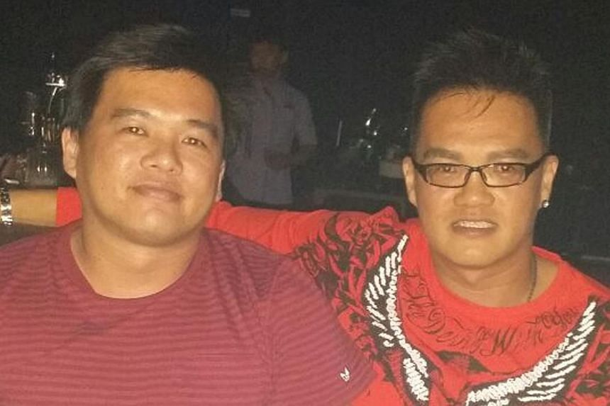 Mr Yeo Eu Loone (left) is missing after the vessel he was on was hijacked. He is seen here with brother Eugene Yeo.