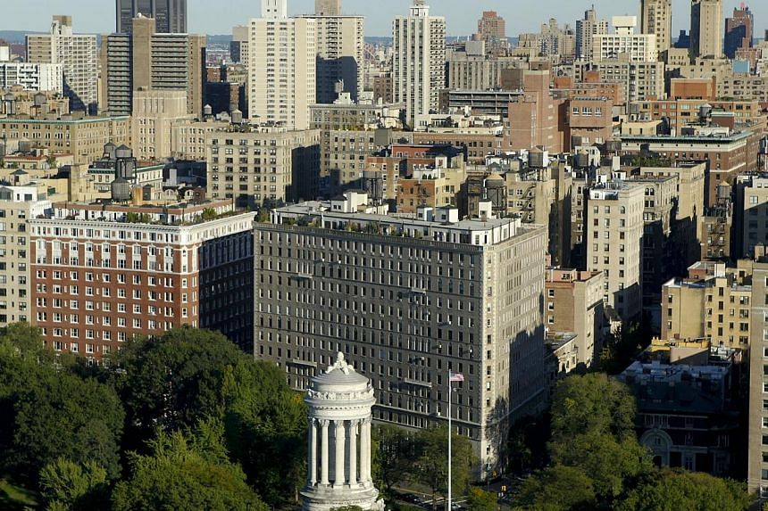 Properties in New York's Upper West Side are shown in this 2010 aerial photograph. Property developer Keppel Land has made its first foray into the United States with a US$70 million (S$86.9 million) investment in a property in New York City. -- PHOT
