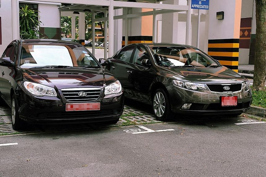 Only 61 new off-peak cars were registered in the first six months of this year, down from 81 in the same period last year and 304 in 2012. -- PHOTO: BERITA HARIAN FILE
