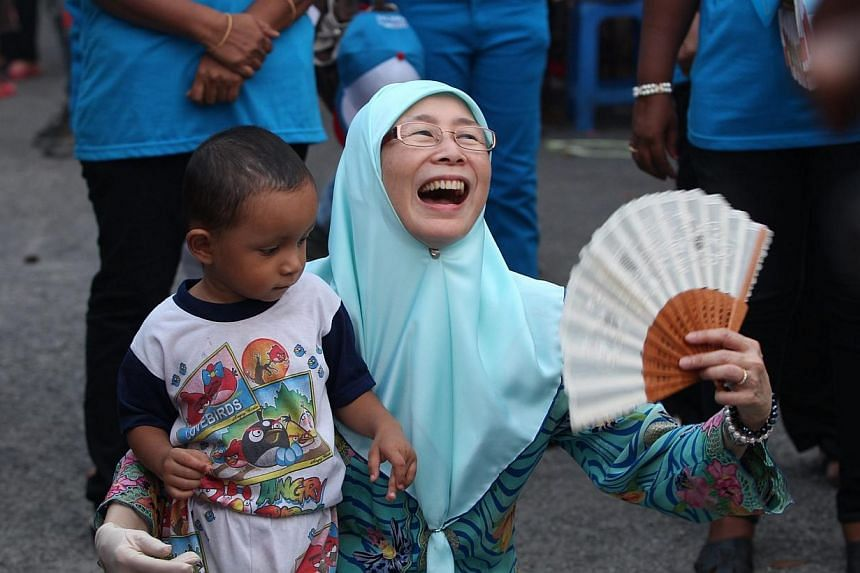 Dr Wan Azizah Wan Ismail, President of Parti Keadilan Rakyat (PKR), during an election campaign in March for the Kajang state seat in Selangor which she eventually won. Dr Wan Azizah, who is the wife of opposition leader Anwar Ibrahim, says it i