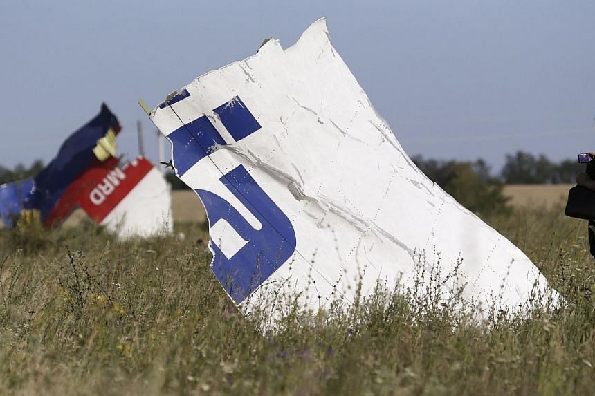 A woman takes a photograph of wreckage at the crash site of Malaysia Airlines Flight MH17 near the village of Hrabove (Grabovo), Donetsk region on July 26, 2014. The Netherlands or Malaysia are likely to try those responsible for the downing in