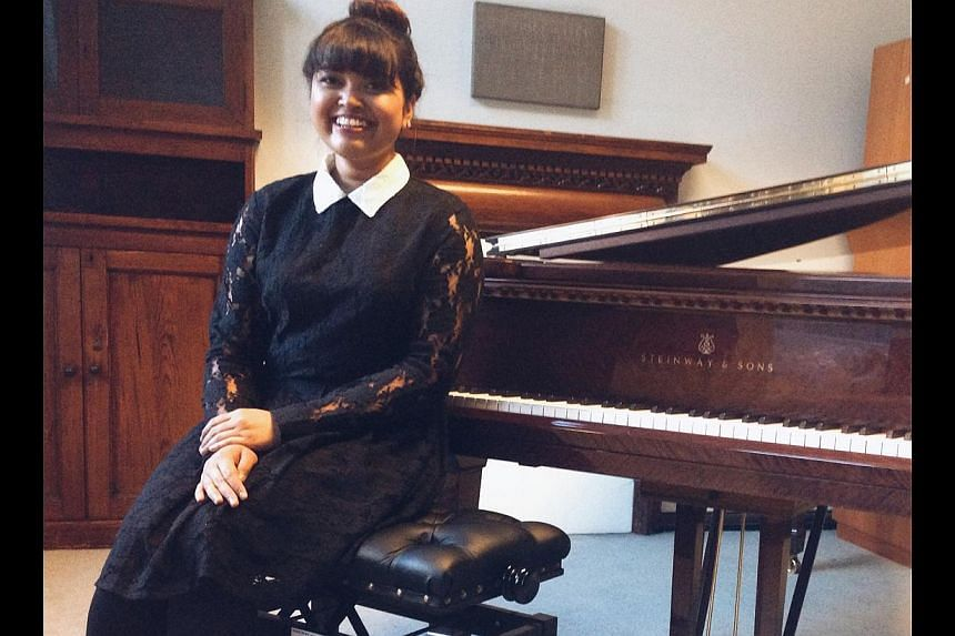 Now a student at London's prestigious Royal College of Music, Nabillah Jalal (above) will play at a fund-raiser with the Young Musician's Foundation Orchestra on Aug 16.