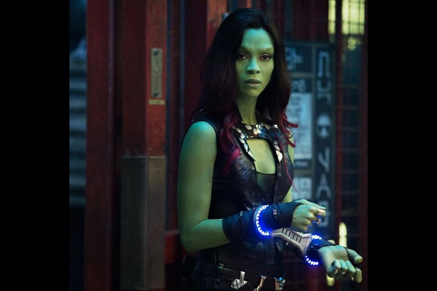 Actress Zoe Saldana is no stranger to science-fiction movies, having appeared in Avatar and the rebooted Star Trek series. -- PHOTO: WALT DISNEY