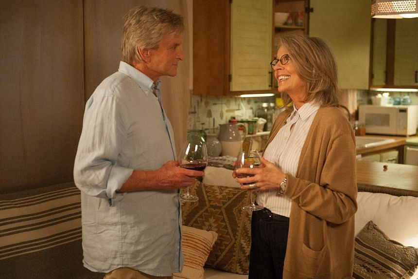 Michael Douglas pulls it off as the cantankerous real estate agent who finally falls for Diane Keaton's (both above) lounge singer. -- PHOTO: SHAW
