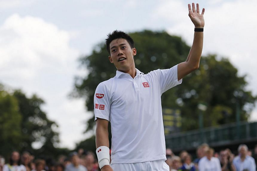 Japan's Kei Nishikori has new confidence against the top stars in tennis, thanks to some success on the court and in his work with coach Michael Chang. -- PHOTO: AFP