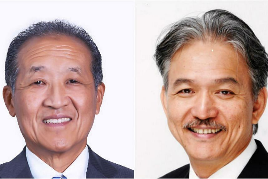 Mr Stephen Lee (left) is stepping down as president of the Singapore National Employers Federation (SNEF). He will be succeeded by Dr Robert Yap with effect from Sept 1. -- PHOTO: SINGAPORE NATIONAL EMPLOYERS FEDERATION