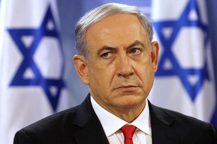 Israeli Prime Minister Benjamin Netanyahu pauses during a press conference at the Defence Ministry in Tel Aviv on July 28, 2014.Prime Minister Benjamin Netanyahu said on Thursday that Israel was determined, regardless of ceasefire efforts, to c
